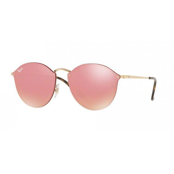 ab35c7d0bda55 Óculos de Sol Ray Ban Blaze Round RB3574N-001 E4