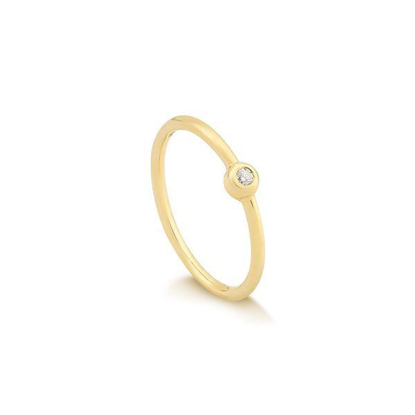 f6434322529 Anel em Ouro 18k com Diamante Coleção LOVE By Eduarda Brunelli