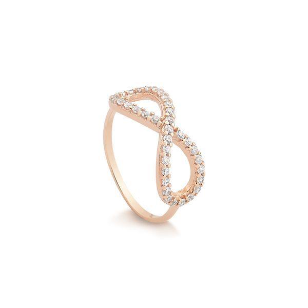 Anéis · Memory · Anel Infinito em Prata Rosé 003ec6d165
