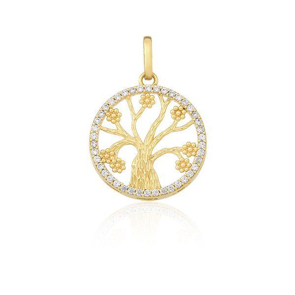 945e831fceee8 Pingente Mandala Árvore em Ouro 18k
