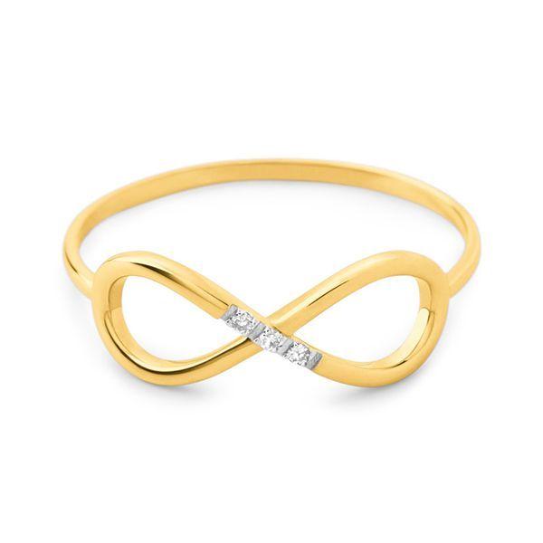 70eee49cf04d1 Anéis Safira   Anel Infinito em Ouro 18k com Diamante