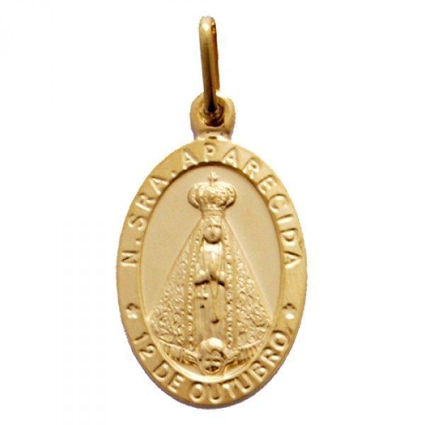 95ff2bd3407e4 Pingente Proteção · Safira · Medalha Nossa Senhora de Aparecida