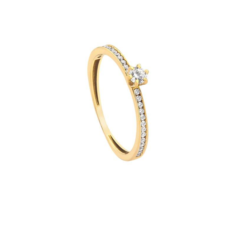 ca7b768600f10 Debutantes Safira   Anel Solitário Ouro 18k Com Pontos de Zircônia