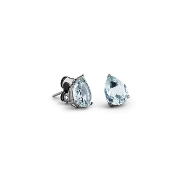 Brinco Coleção · Safira · Brinco Gota em Prata com Ródio Negro 5d1eee2e10