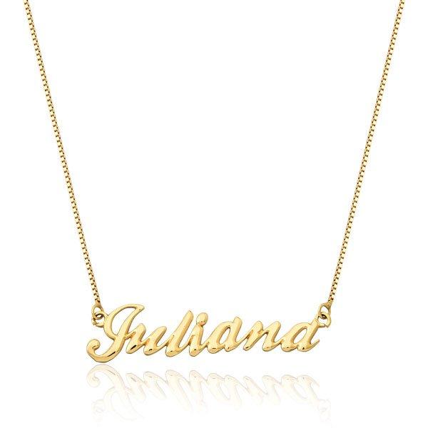 Correntes Safira   Corrente com Nome Personalizável em Ouro 18k 8d08d93ce2
