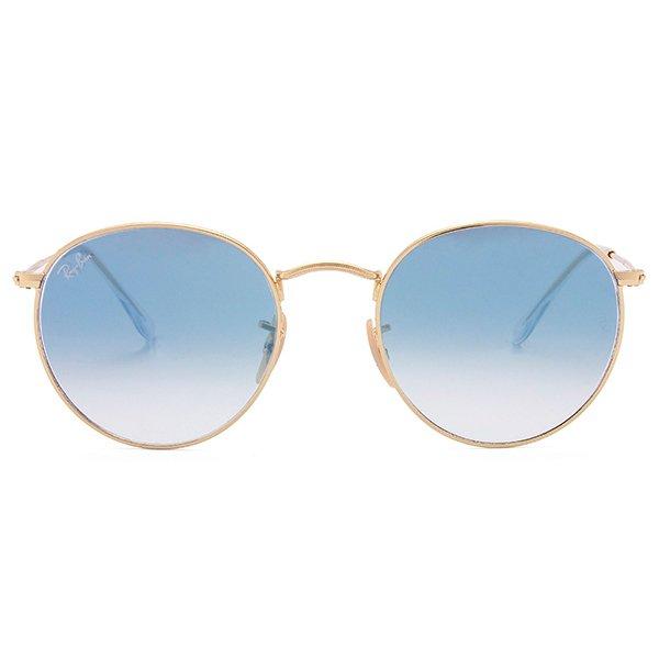 0a7169270 Óculos de Sol Ray Ban Round Metal RB3447N-001 3F 53