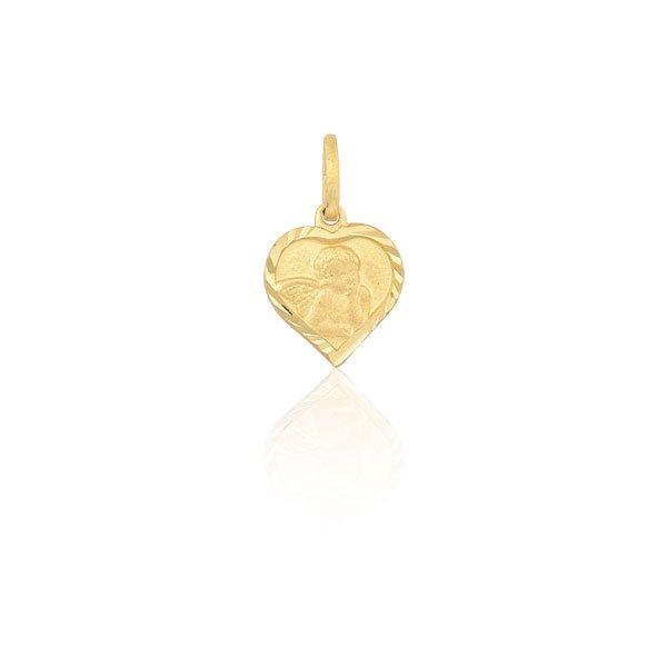 Pingente Proteção Safira   Pingente Anjo da Guarda em Ouro 18k 5c2fb00f19