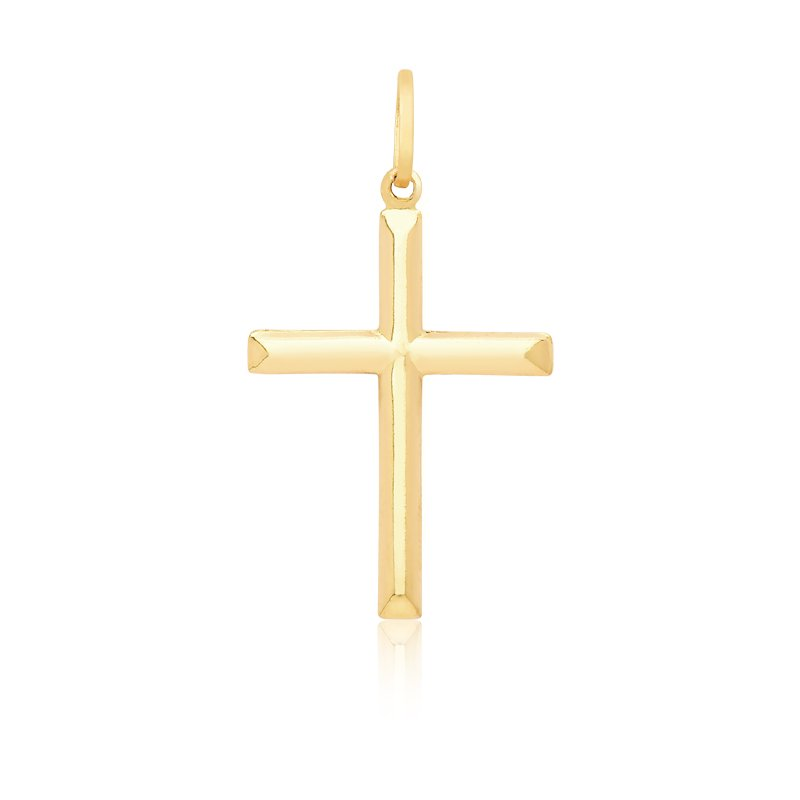 Pingente Proteção Safira   Pingente Cruz em Ouro 18k 53cb4e080b