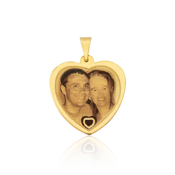 Pingente de Coleção Safira   Pingente em Ouro 18k Para Gravação de1a331ea9