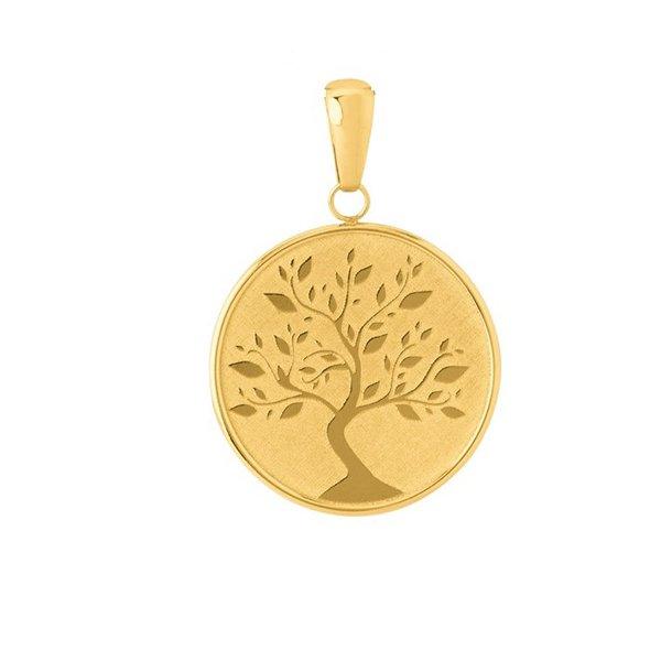 Pingente Proteção · Safira · Pingente Mandala Árvore da Vida em ouro 18k d797413c86