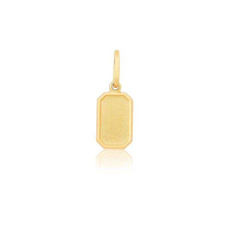 Pingente de Coleção Safira   Pingente Placa em Ouro 18k 563c69b412