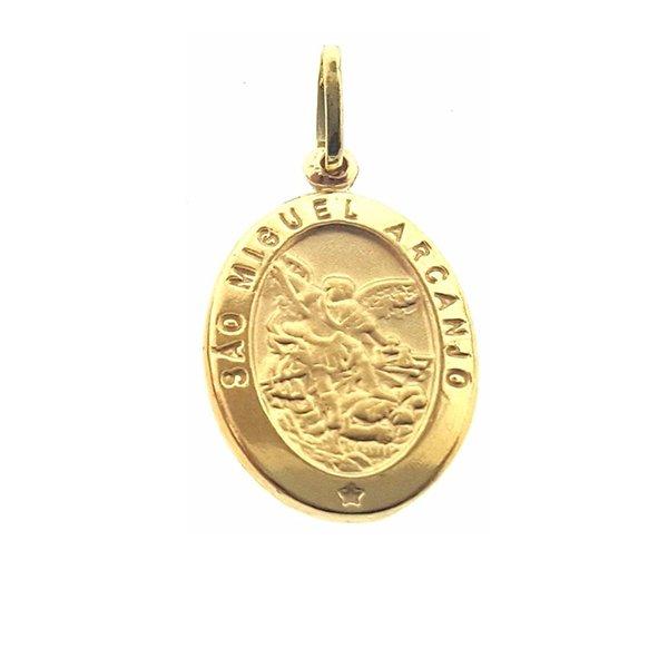 c483b48778bb2 Pingente São Miguel Arcanjo em Ouro 18k