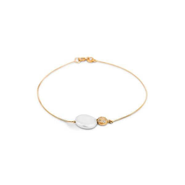 Bracelete · Safira · Pulseira em Ouro Rosé 18k com Madrepérola 7b265f8b65