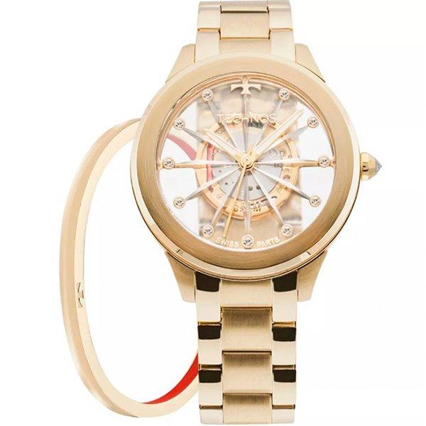 01d84f1c612 Relógio Technos Essence Dourado F03101AA K4W