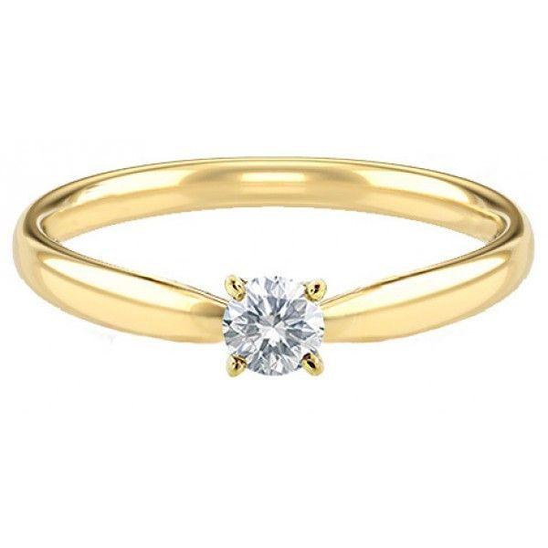 Debutantes Safira   Anel Solitário Ouro 18k Com 10 Pontos de Diamante f80d27d311