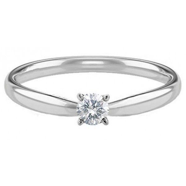 c6fab2779bf12 Anel Solitário Ouro Branco Em 7 Pontos De Diamante